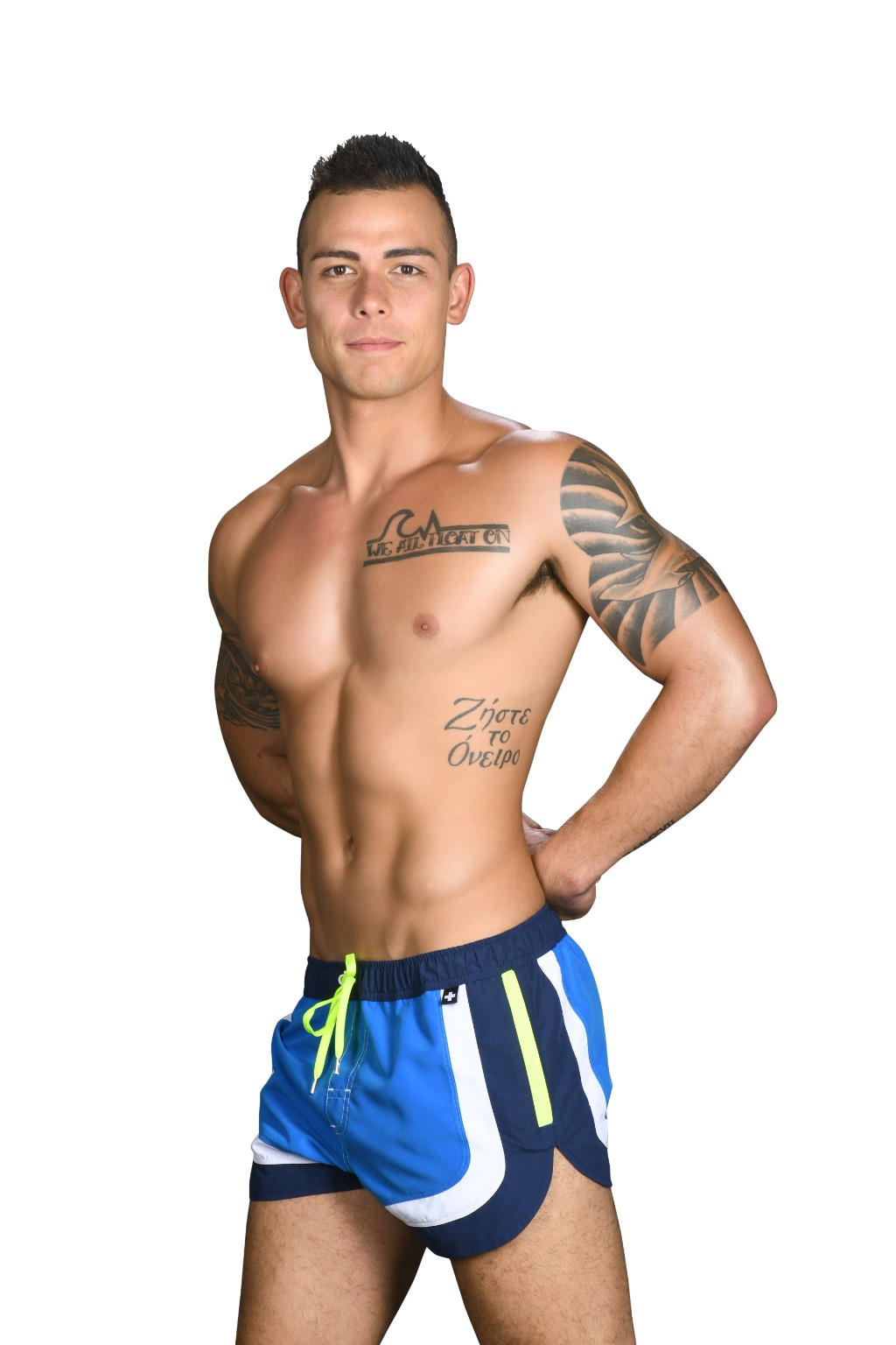 Andrew Christian šortkové plavky CHAMPION Swim Shorts Blue5