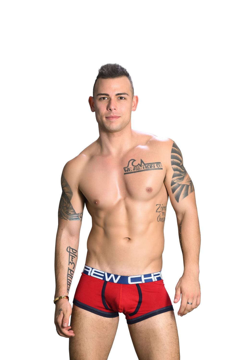 FlashLift Boxerky ANDREW CHRISTIAN s Pushup kapsou Show-It Red2