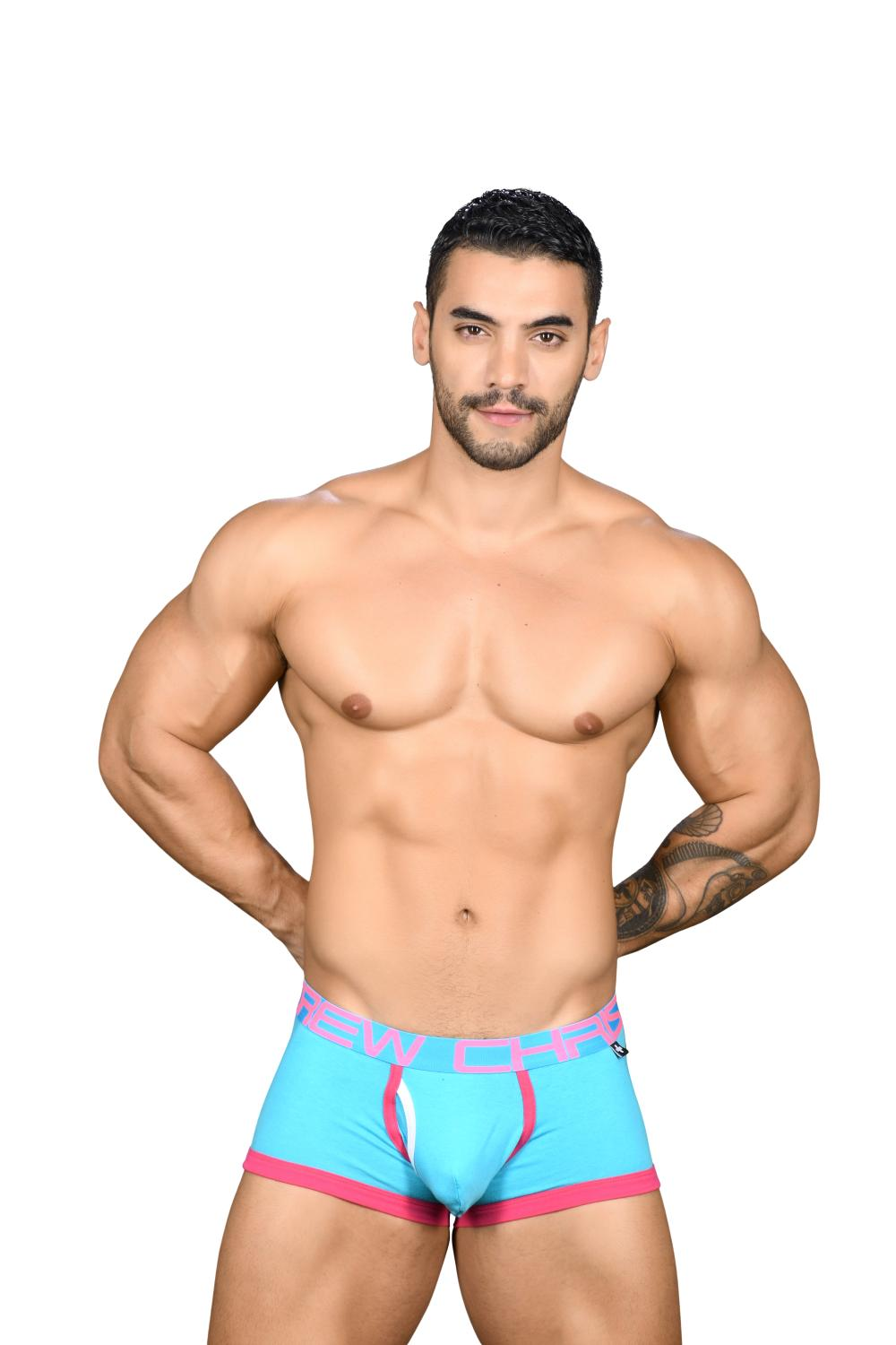 Fly Tagless Boxerky ANDREW CHRISTIAN Almost Naked Aqua7
