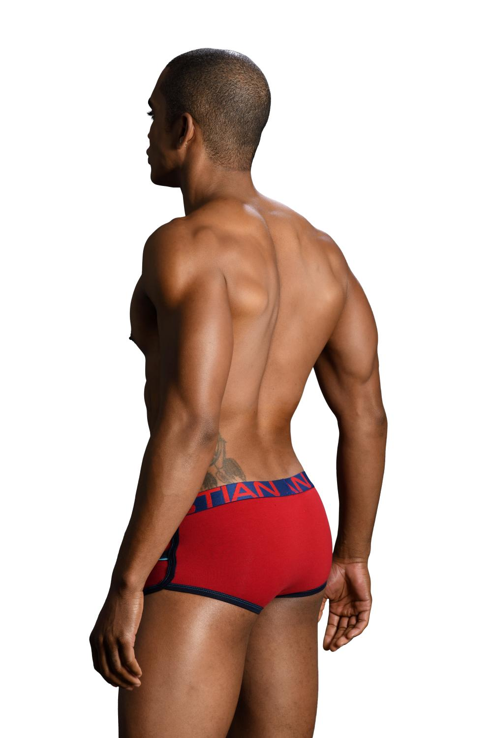Retro Pop Pocket boxerky ANDREW CHRISTIAN s Pushup kapsou Show-It Red5