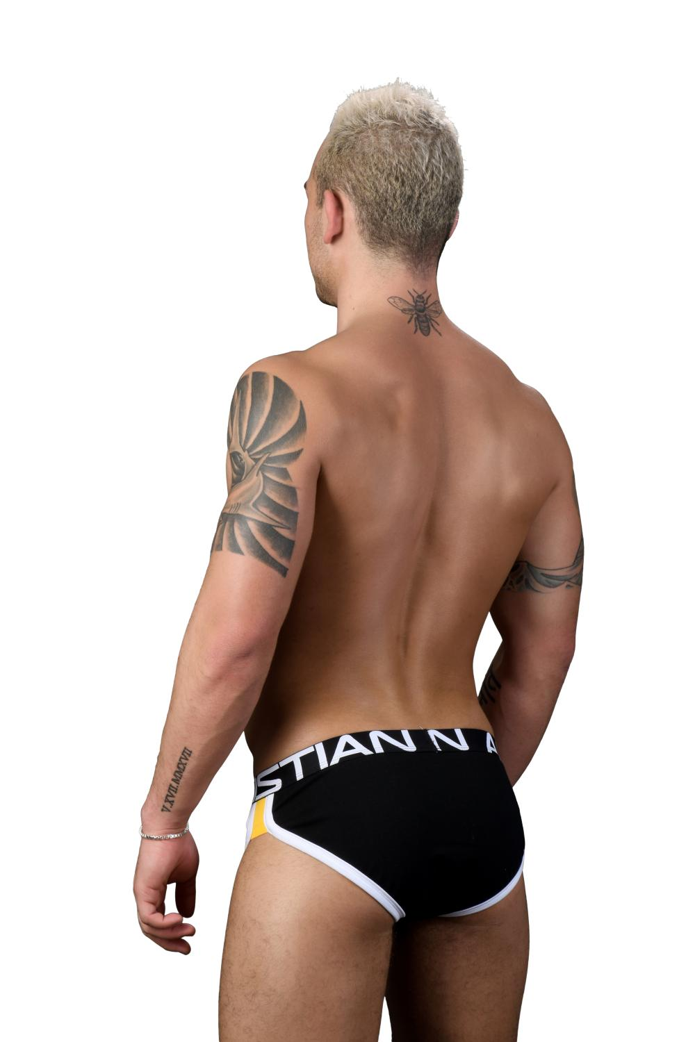 Retro Pop Slipy ANDREW CHRISTIAN s Pushup kapsou Show-It Black5