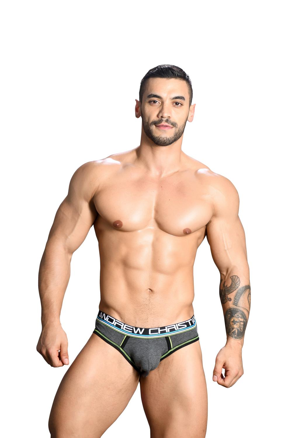 CoolFlex Modal Locker Room Jockstrap ANDREW CHRISTIAN s Pushup kapsou Show-It Charcoal2