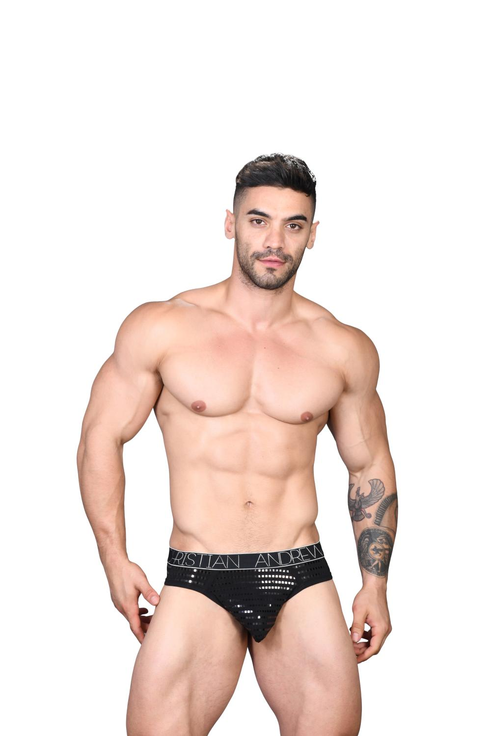 Dazzle Locker Room Jockstrap ANDREW CHRISTIAN Almost Naked Black2