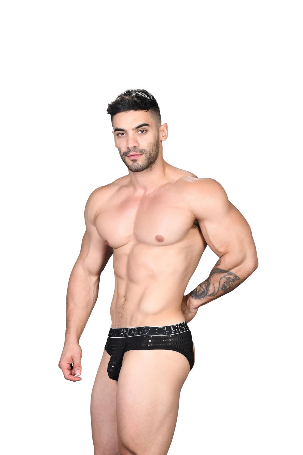 Dazzle Locker Room Jockstrap ANDREW CHRISTIAN Almost Naked Black4