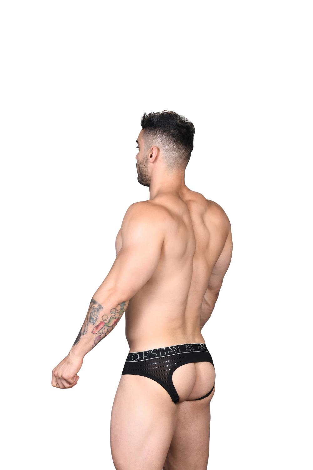 Dazzle Locker Room Jockstrap ANDREW CHRISTIAN Almost Naked Black5