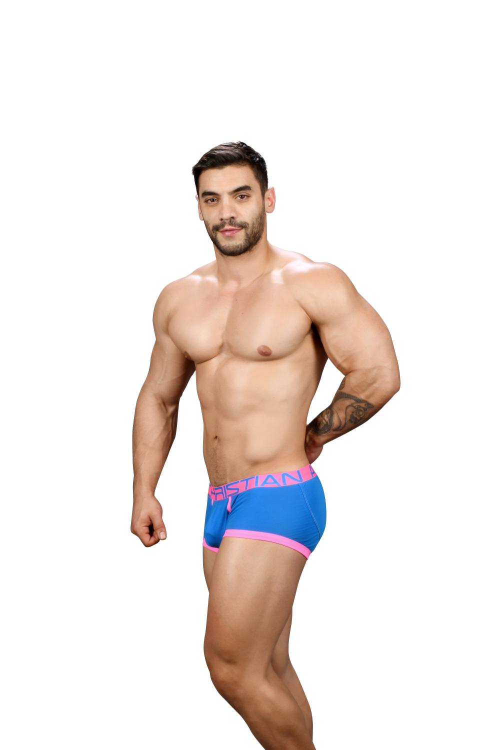 FlashLift Boxerky ANDREW CHRISTIAN s Pushup kapsou Show-It Electric Blue4