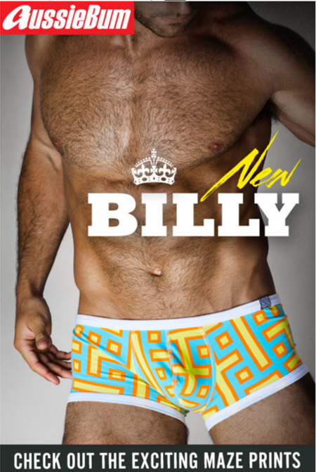 AussieBum Billy Hipster boxerky z kolekce MAZE Orange
