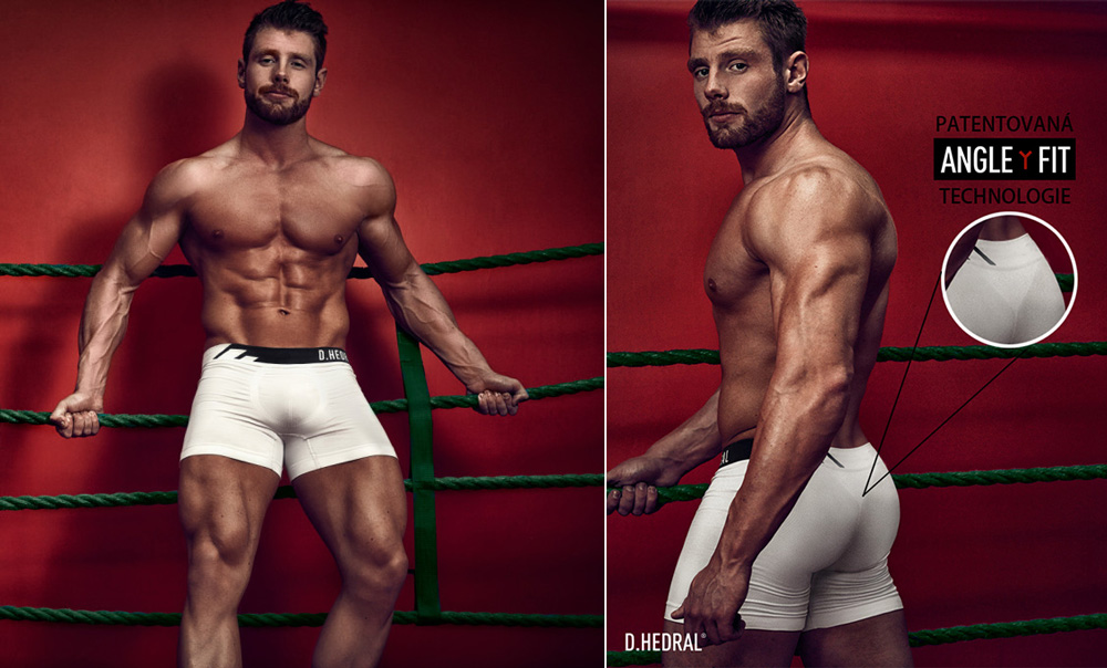 D-HEDRAL-Seamless-boxer-Boxerky-White-Anthracite-Bílá 1