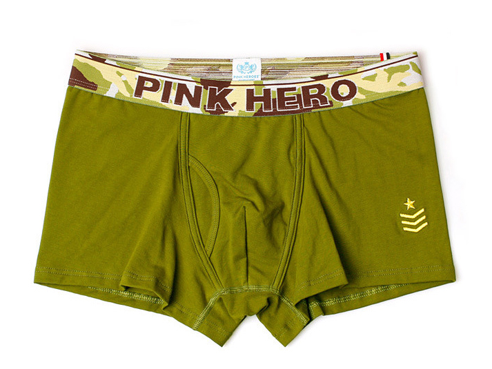 Heroes Army boxerky PINK HERO - Army Green 3